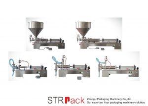 د نیم اتوماتیک پیسټان مایع ډکولو ماشین